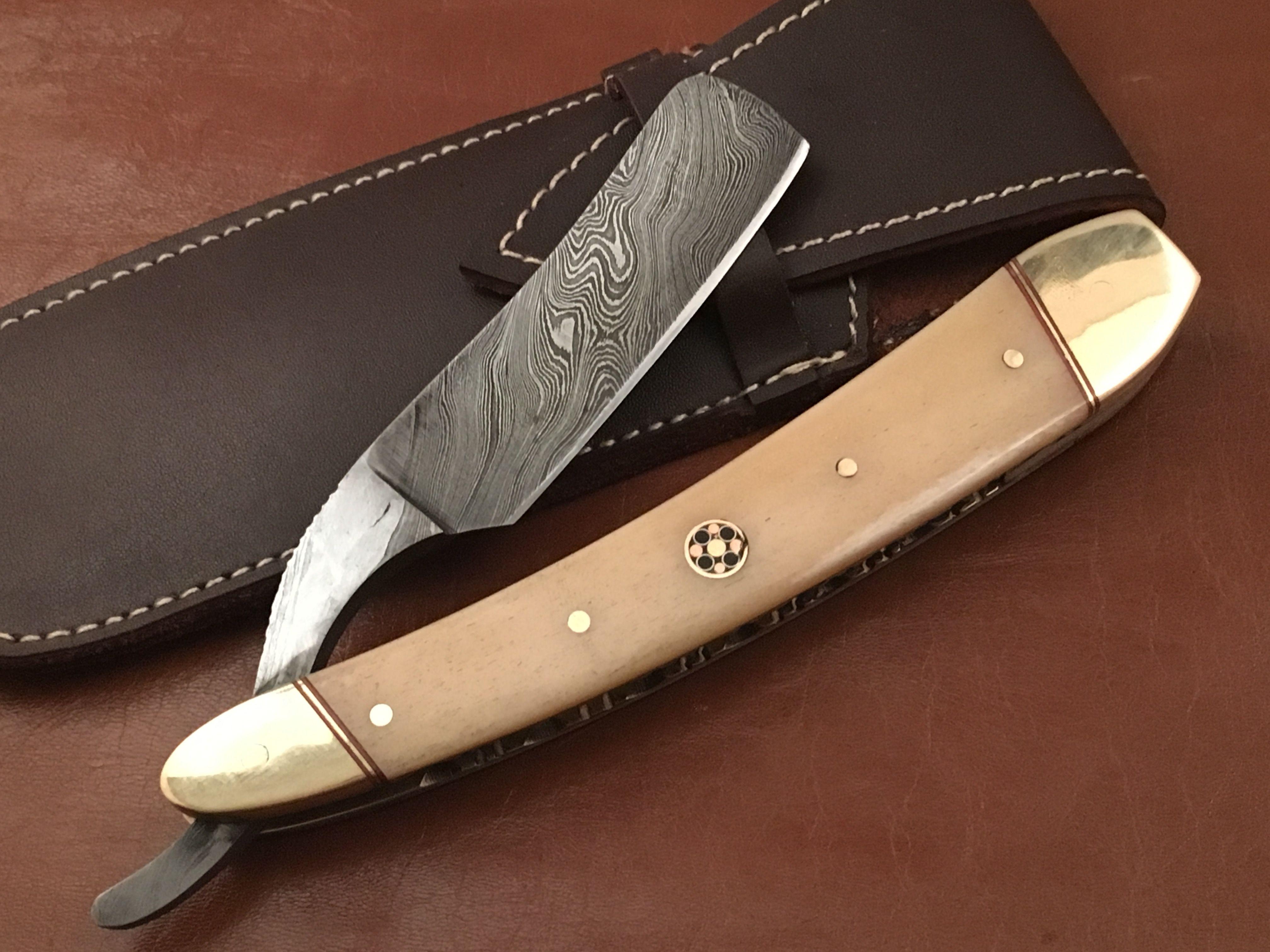 Handmade Damascus Steel Straight Razor by Jayger UK | Straight razor ...