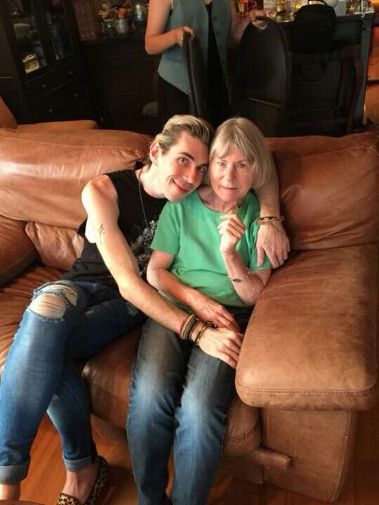 Josh Ramsay And His Mom On Mother S Day Josh Ramsay Marianas Trench Face The Music