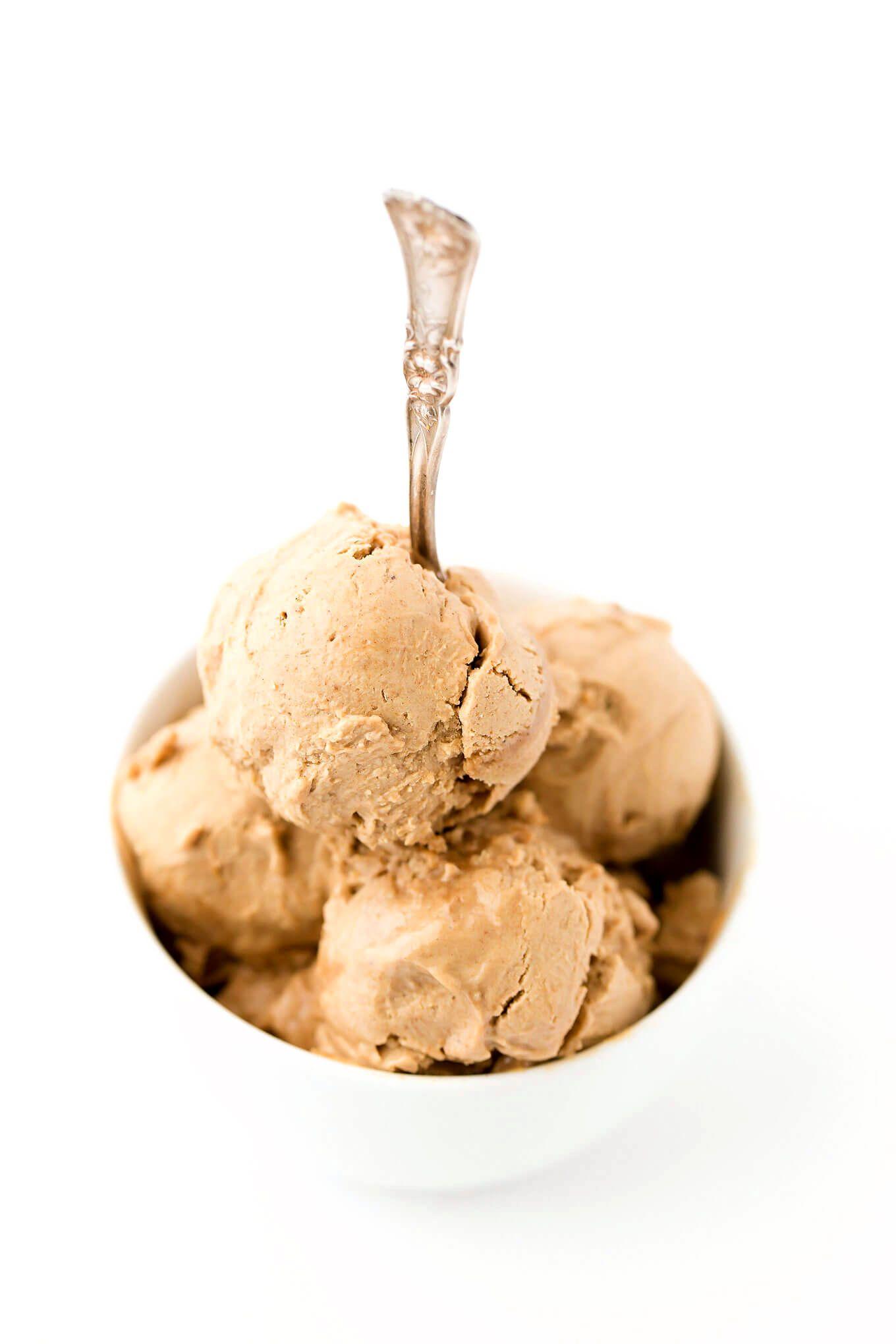 Vegan No Churn Cinnamon Roll Ice Cream Recipe Almond Milk Ice Cream Recipe Healthy Ice Cream Recipes Vegan Ice Cream