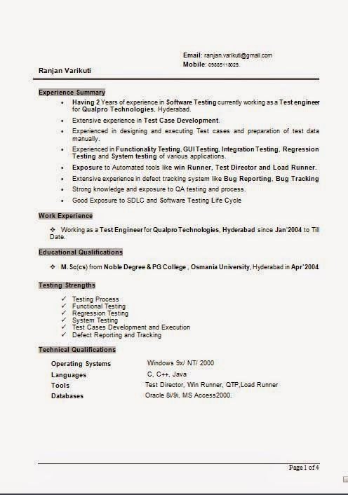harvard format cv Sample Template Example of ExcellentCV / Resume ...