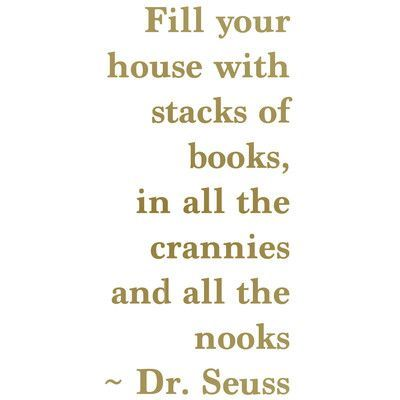 The Decal Guru Dr. Seuss Book Quote Color: Gold, Size: 36\