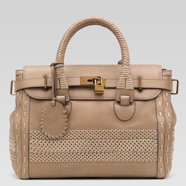 9d83f5683f3 Gucci Handmade Large Top Handle Bag 263944 in Taupe