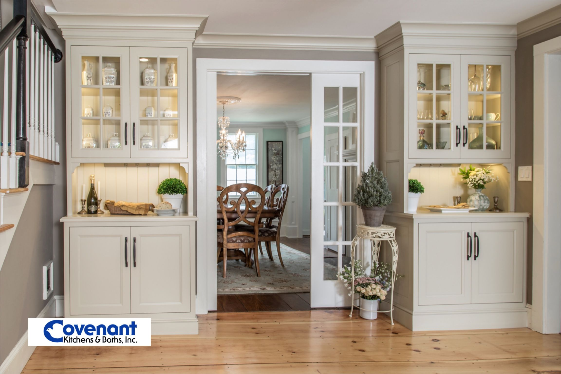 What better way to frame a dining room entrance than two ...