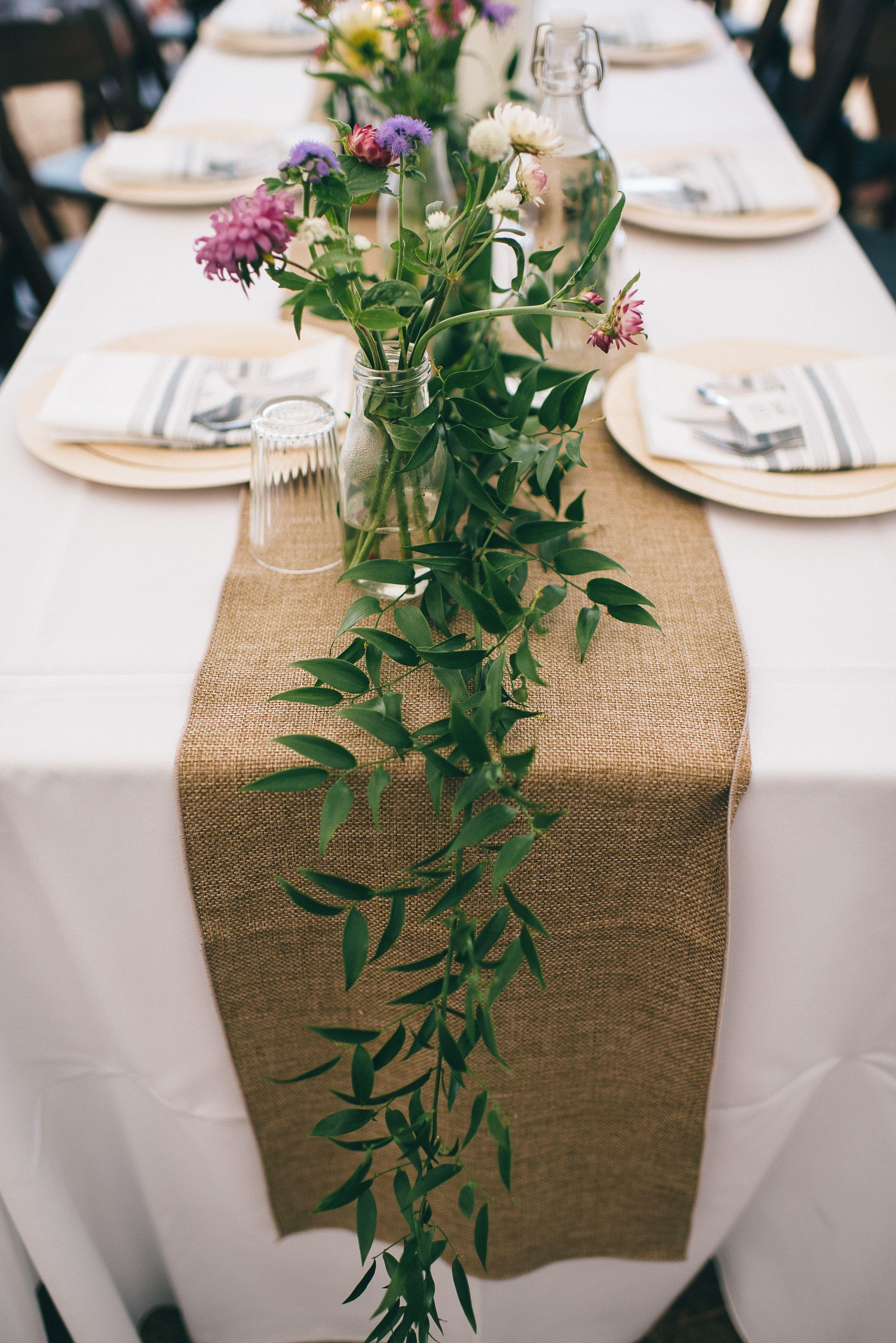 Farm Wedding Rustic Table Setting