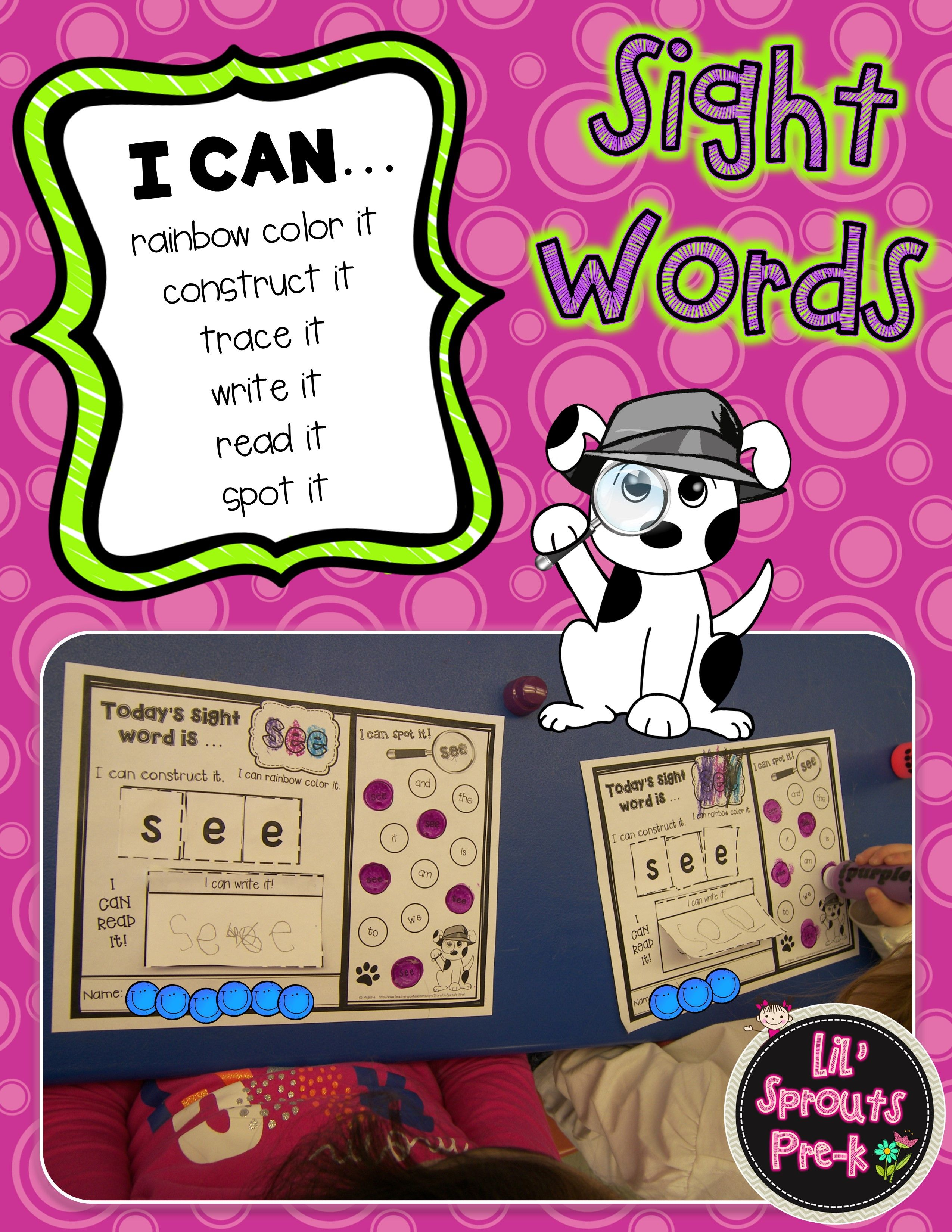 Interactive Sight Word Printables