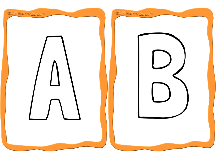 Sample Alphabet Coloring Cards Printable Flash Cards Flashcards Alphabet Flashcards