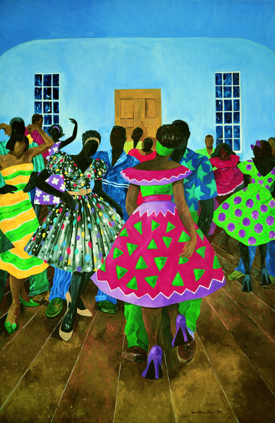 The silver slipper club by jonathan green afrocentric