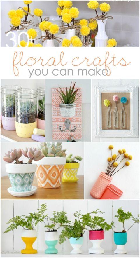 Diy Floral Crafts To Make Mason Jar Ideas Gift Ideas And