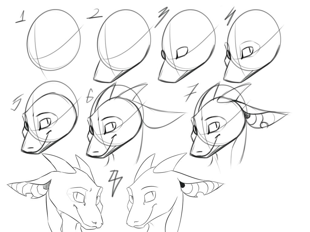 Anthro Dragon Face