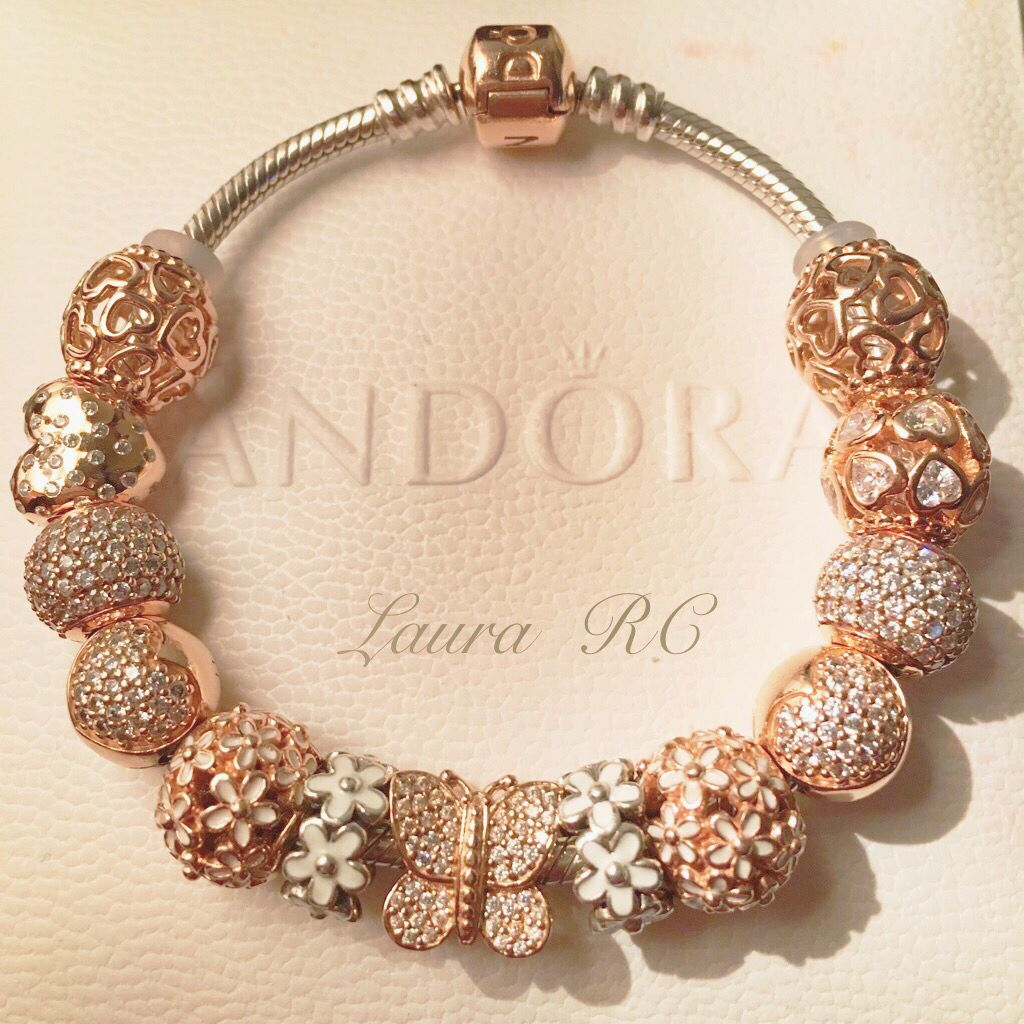 Pandora Jewelry For Sale: Rose Gold Pandora Bracelet Charms