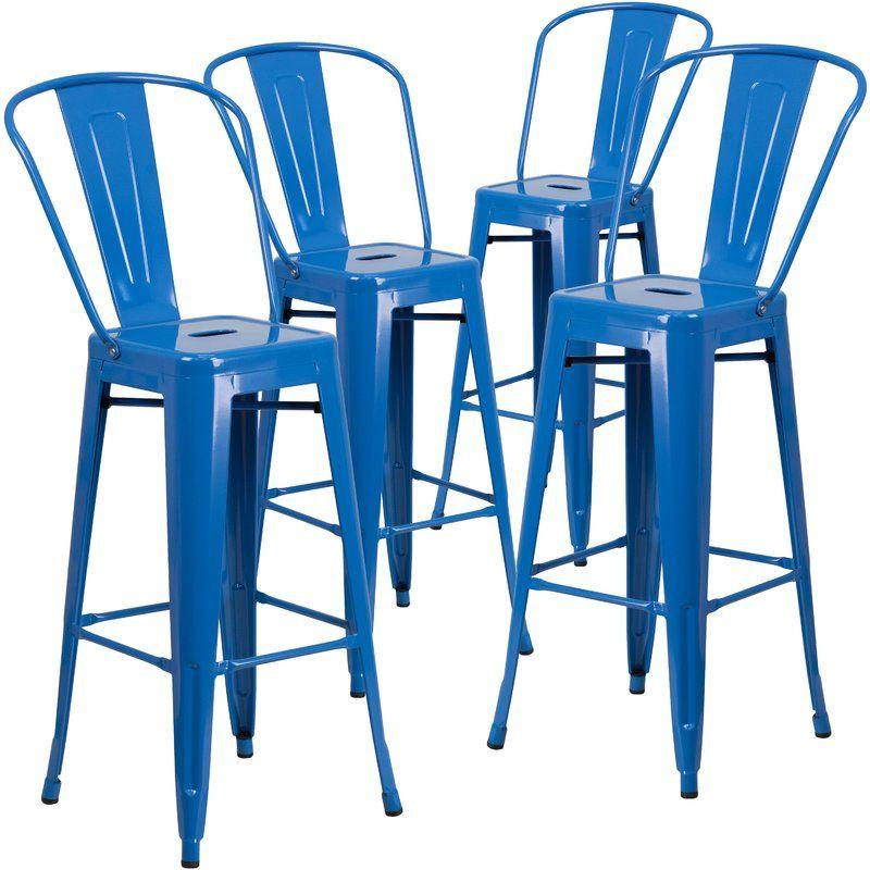 17 Stories Saif 30 25 Bar Stool Reviews Wayfair Metal Bar Stools Bar Stools Blue Bar Stools