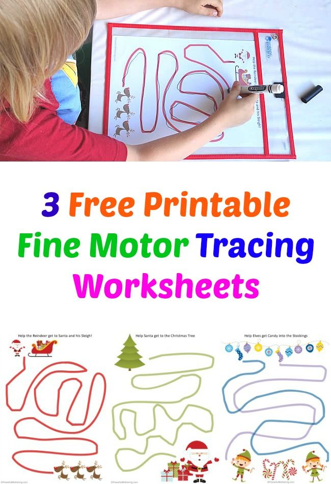 3 Free Printable Fine Motor Tracing Worksheets - Christmas Themed Fine  Motor Activities For Kids, Tracing Worksheets, Fine Motor