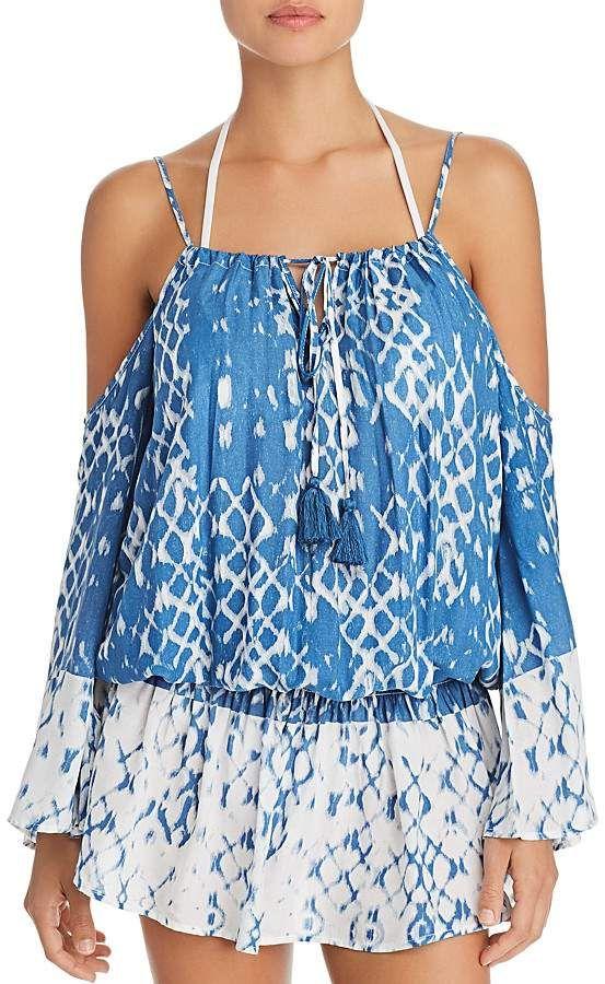 a7ea033ef8 Surf Gypsy Cold Shoulder Dress Swim Cover-Up