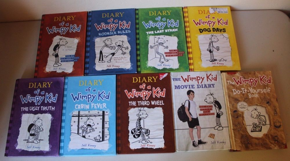 Diary of a wimpy kid 1 7 movie book do it yourself lot of 9 diary of a wimpy kid movie book do it yourself lot of 9 hardback books solutioingenieria Image collections