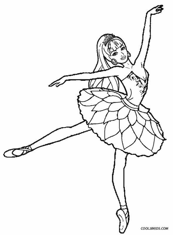 Ballet Coloring Pages Ballerina Coloring Pages Barbie Coloring