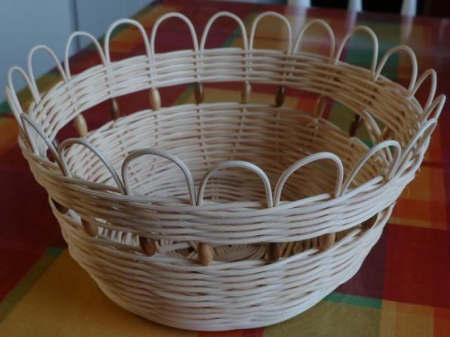 Pedigový kôš s korálikmi / Artmama.sk / Pegig basket with beads