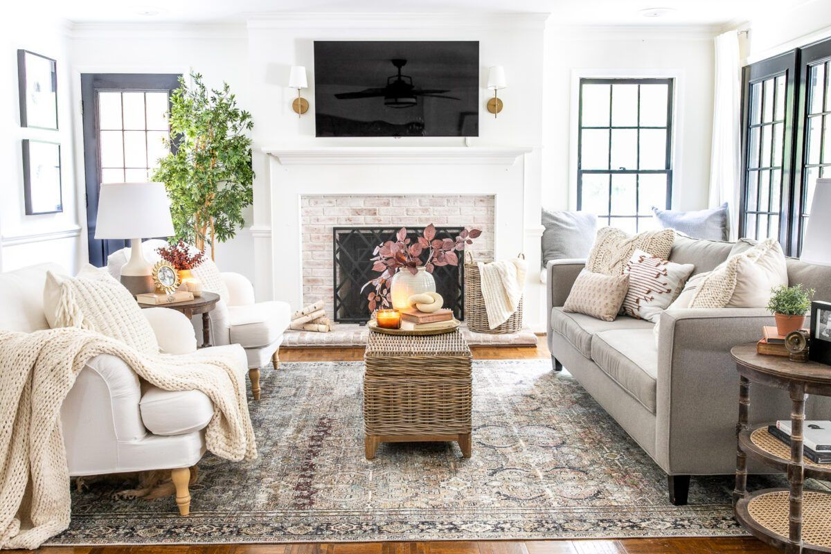 Earthy Fall Living Room My Favorite Budget Fall Decor Capsule Stairs In Living Room Winter Living Room Fall Living Room
