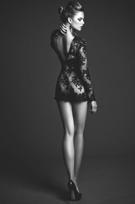 Black lace! Hot