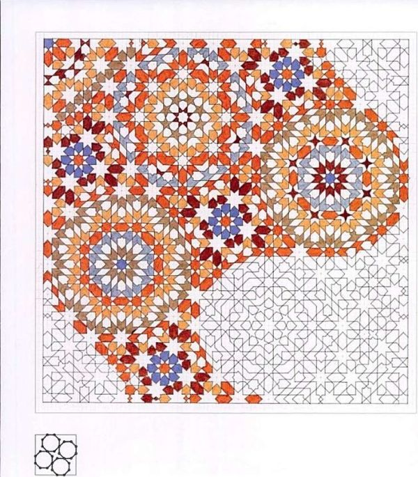 Motif With Mother Of Pearl Leaf As The Underlying Structure By Miriam Islamic Art Pattern Pattern Art Islamic Patterns
