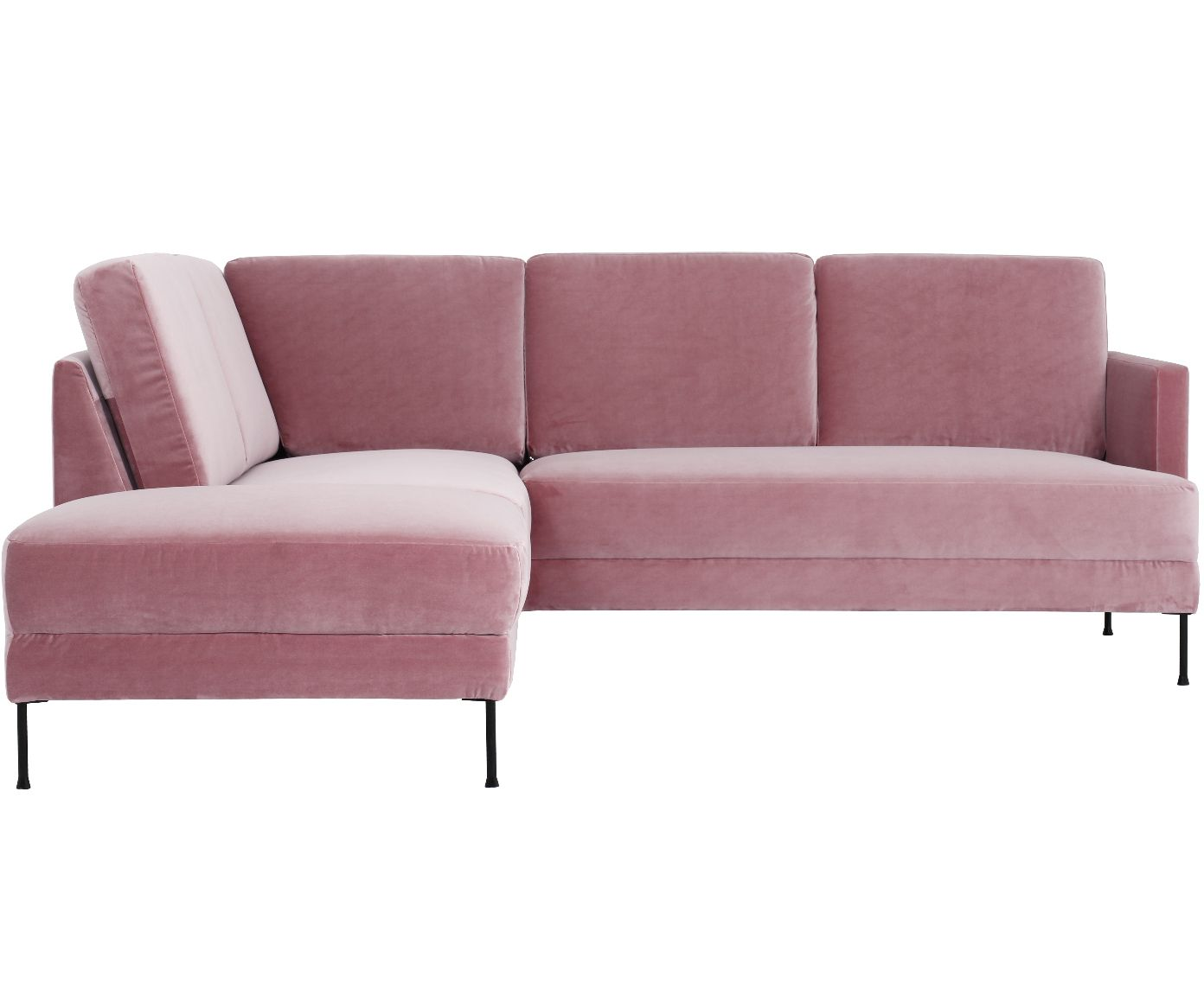 Samt Ecksofa Fluente In Rosa Westwingnow Couch Country