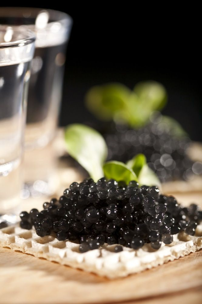 Caviar serving