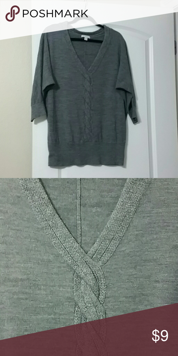 Knit Top Really cute grey knit top perfect on its own or with a tank top under it. New York & Company Tops