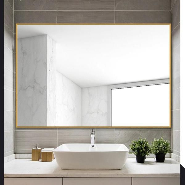Neu Type Modern Simple Metal Hanging Wall Mounted Mirror Bathroom