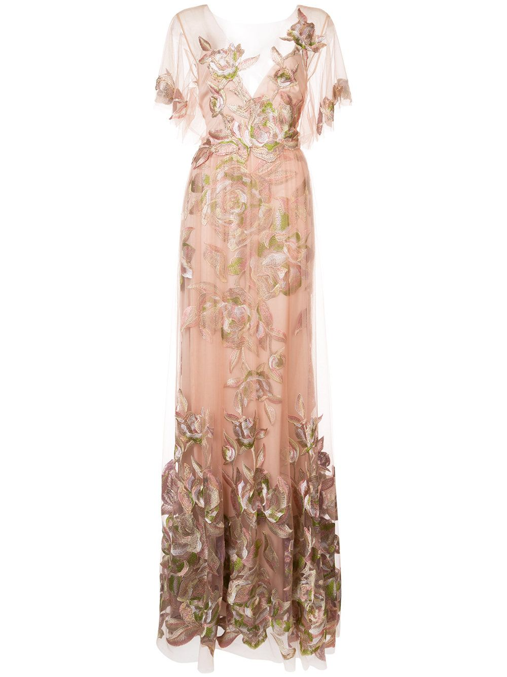 682d28a38f Marchesa Notte delicate floral gown | Fashion | Floral evening ...