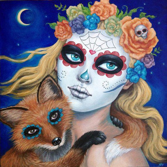Foxy Dia de los Muertos