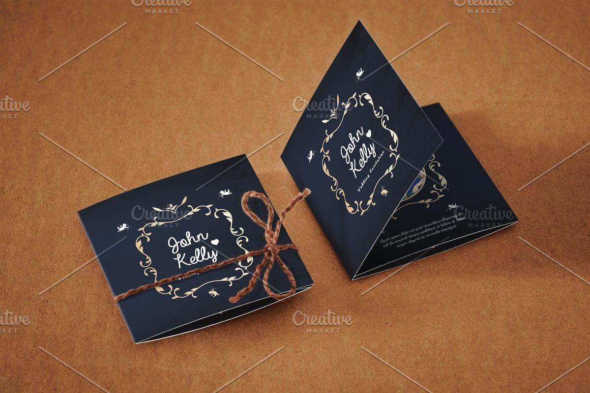 Mini Wedding Invitation Card in 4  Wedding invitation cards