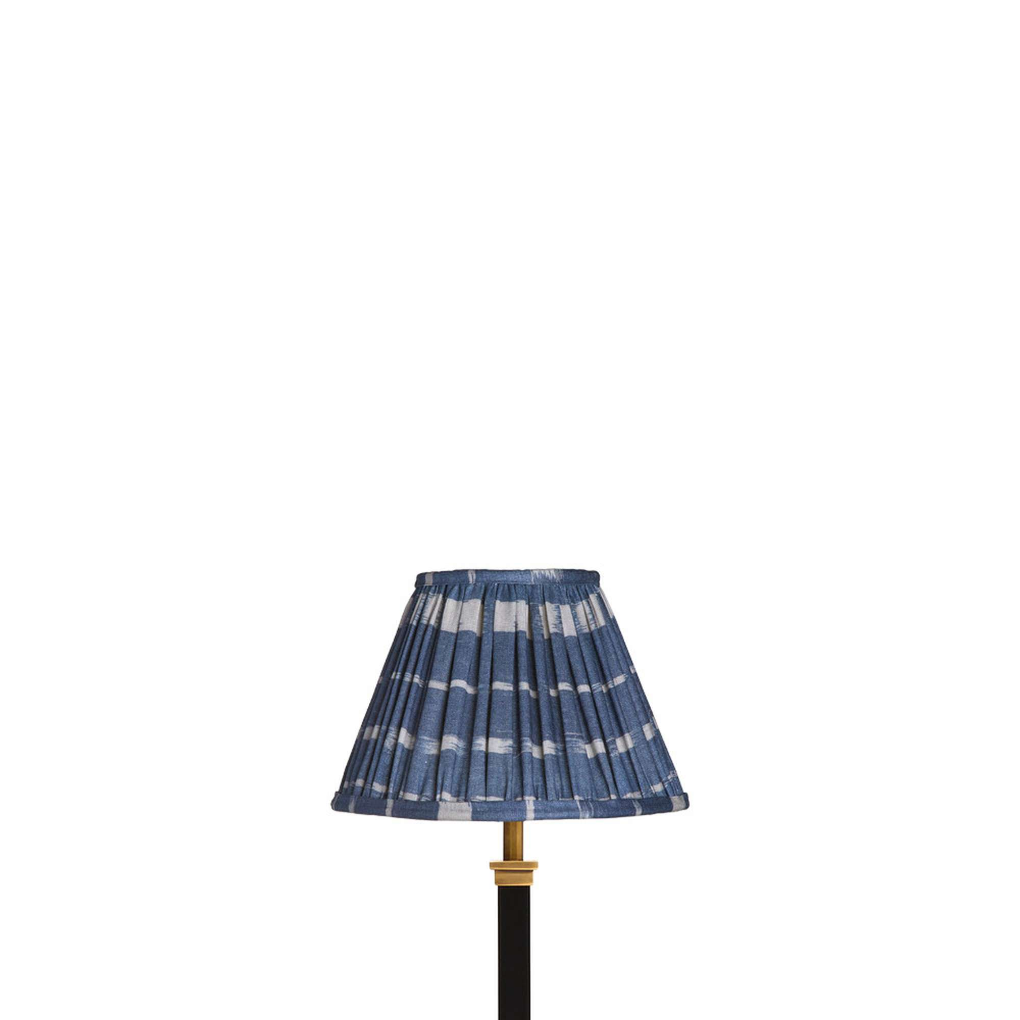 20cm empire gathered lampshade in blue printed denim in