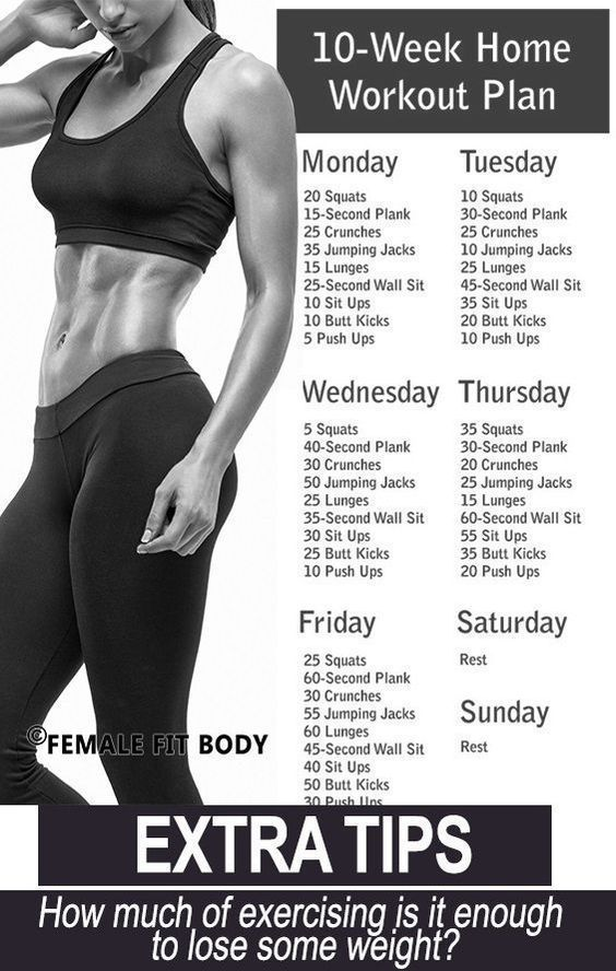 Trainingsplan für zu Hause ohne Fitnessstudio.   - fitness exercise motivation - #exercise #Fitness...