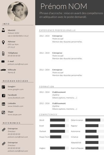 Envie D Un Cv Design Et Tendance Cv Design Resume Design Creative Cv