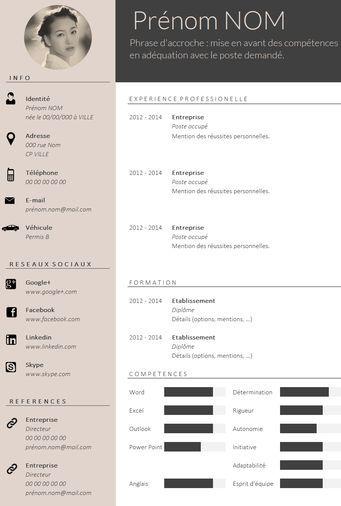 Envie D Un Cv Design Et Tendance Cv Design Resume Design Creative Cv