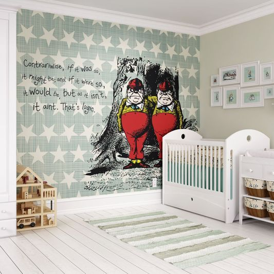 Contrariwise Wall Mural large Nursery Wall Murals tapestries
