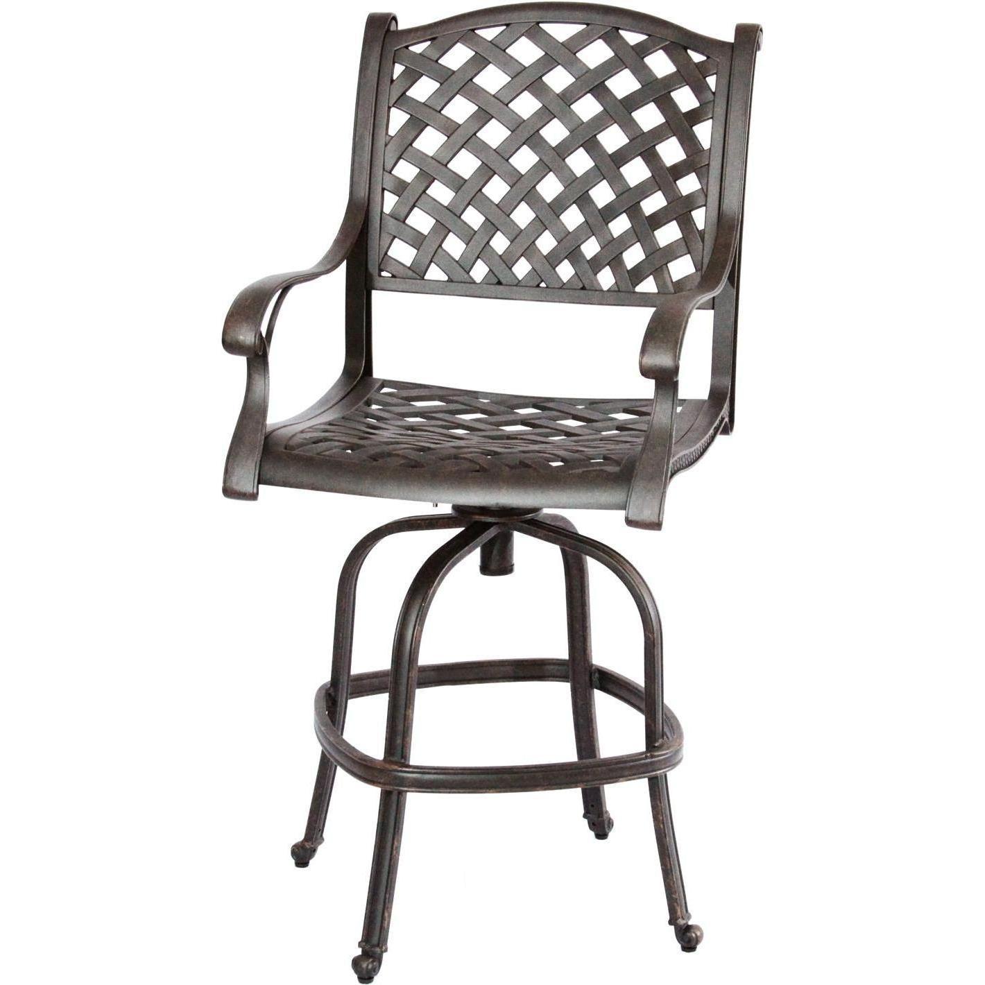 Fine Darlee Nassau Cast Aluminum Patio Swivel Bar Stool In 2019 Squirreltailoven Fun Painted Chair Ideas Images Squirreltailovenorg