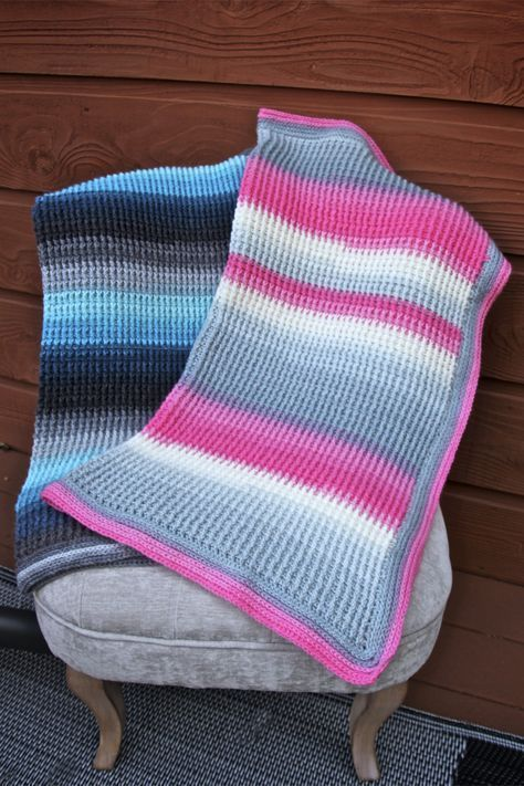 Aurora Skies Ribbed Crochet Baby Blanket Free Pattern with Tutorials ...