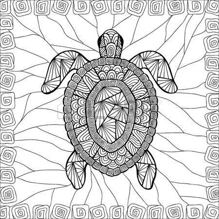 tatuaggio tartaruga: Stilizzato zentangle stile tartaruga. Può ...
