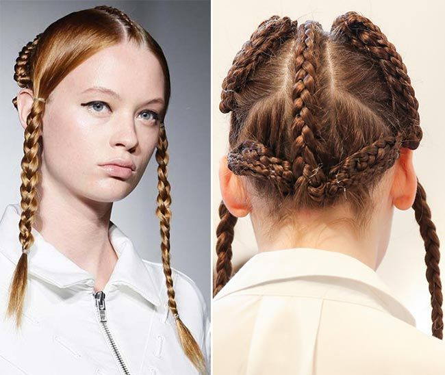 Spring 2015 Braided Hairstyles Inspired From the Runway: Maria Ke ...