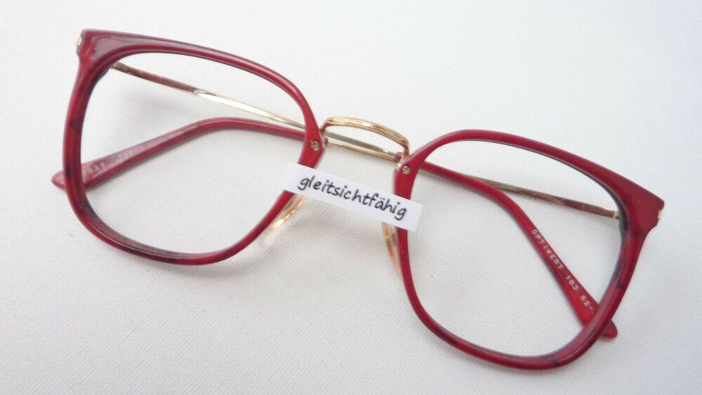 Brillenfassungen Vintagebrille Brille Fassung Damen Große Gläser Kunststoff Hell 70er Grösse M
