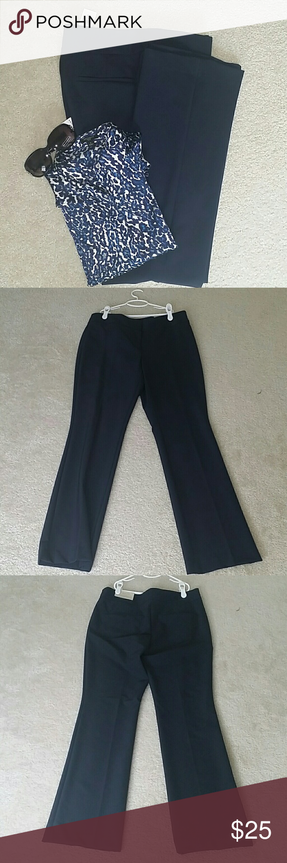 NWT Ann Taylor size 10 suit pants 👉Description : Curvy Fit l Fitted at waist and curved through the hip l sits just below natural waist l super comfortable l slim to the knee with slightly flared legs . 👉Material : 88% nylon, 12 % spandex. 👉Color : Navy blue.  👉Condition : Brand new with tags. 👉Measurements : Will be provided on request. 👉Discount with bundles. No trades 🚫 Ann Taylor Pants