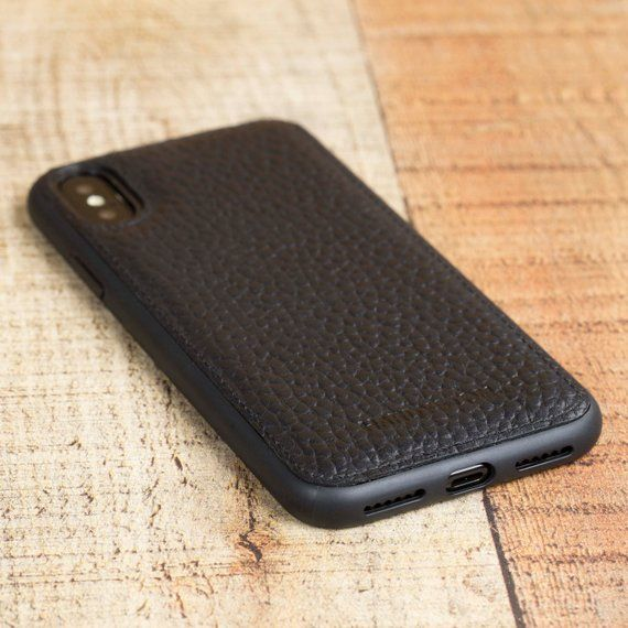 on sale 70db7 4fe98 iPhone Xs Leather Case, Black iPhone X Case, Magnetic iPhone X Cover ...
