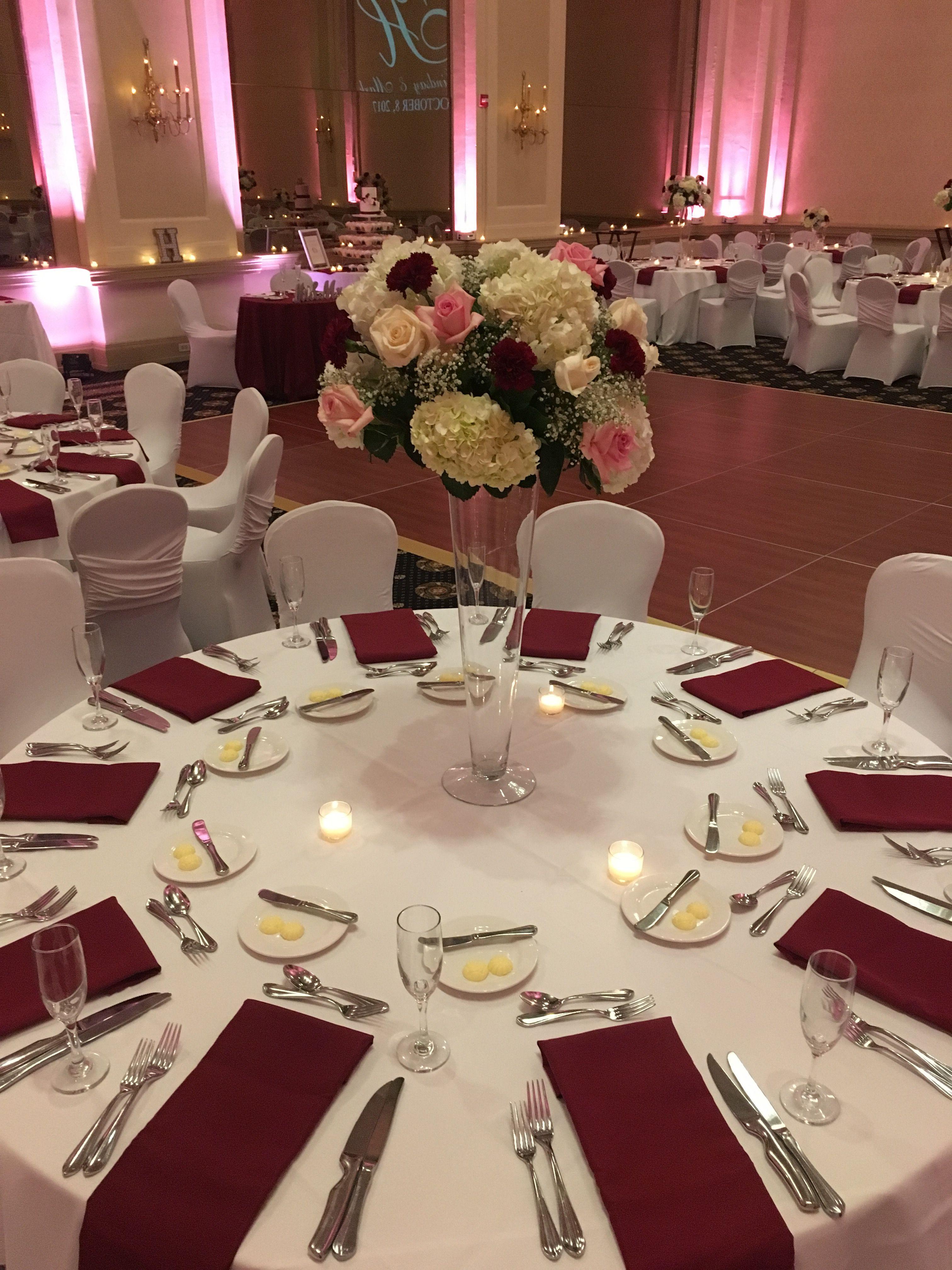 Tablescape Burgandy wedding, Burgundy wedding