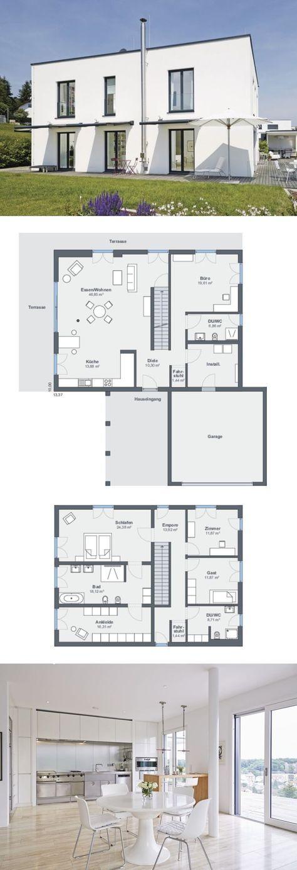 Moderne Bauhaus Stadtvilla Barrierefrei Mit Garage Flachdach