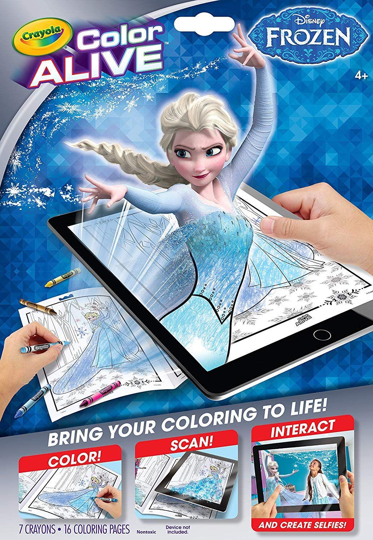 4 Amazon Com Crayola Frozen Color Alive Action Coloring Pages Books Coloring Books Frozen Coloring Crayola