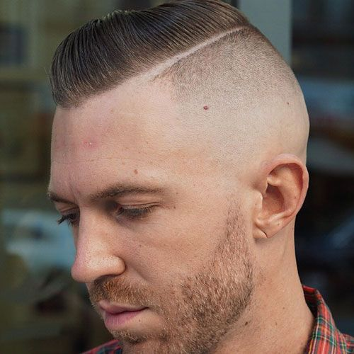 shaved sides hairstyles men