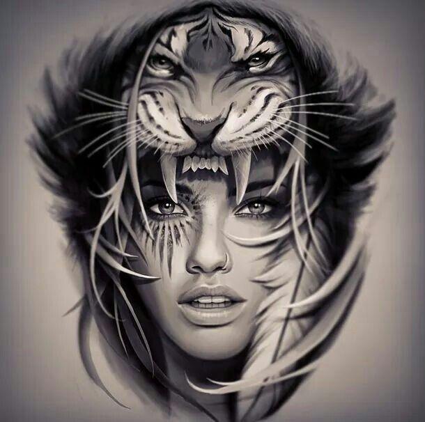 I Love The Concept But Id Rather Make The Tiger A Bit Bigger And More Fierce Headdress Tattoo Koi Tattoo Sleeve Leo Tattoos
