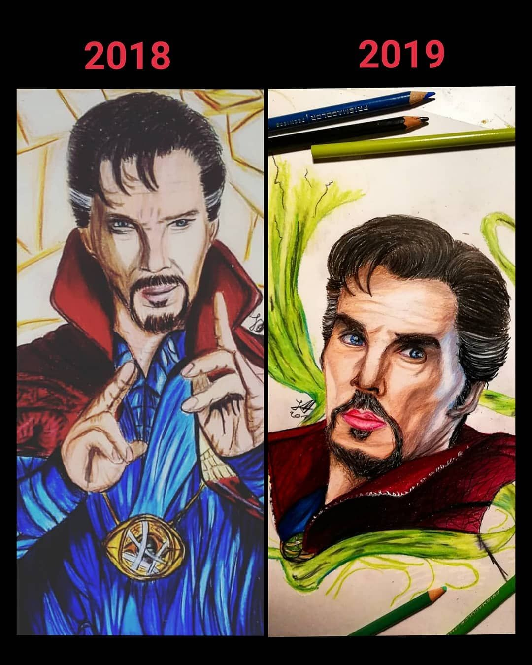 1 year improvement Dr. Strange// what do you think