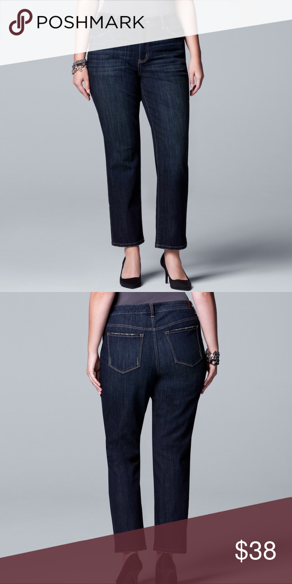 efd25b4366f3c Plus Size SIMPLY VERA WANG Straight Leg Jeans Update your denim wardrobe  with these contemporary women s straight-leg jeans from Simply Vera Vera  Wang.