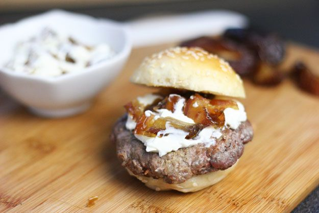 Date and Cheese Burger |12 International Ways To Dress Up Your Hamburger | diyready.com